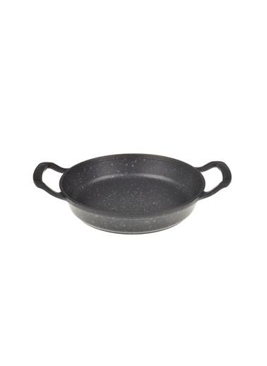 Taşev Taşev Bambum Döküm Alüminyum Bronz Desenli Yuvarlak Sahan 18 cm Siyah